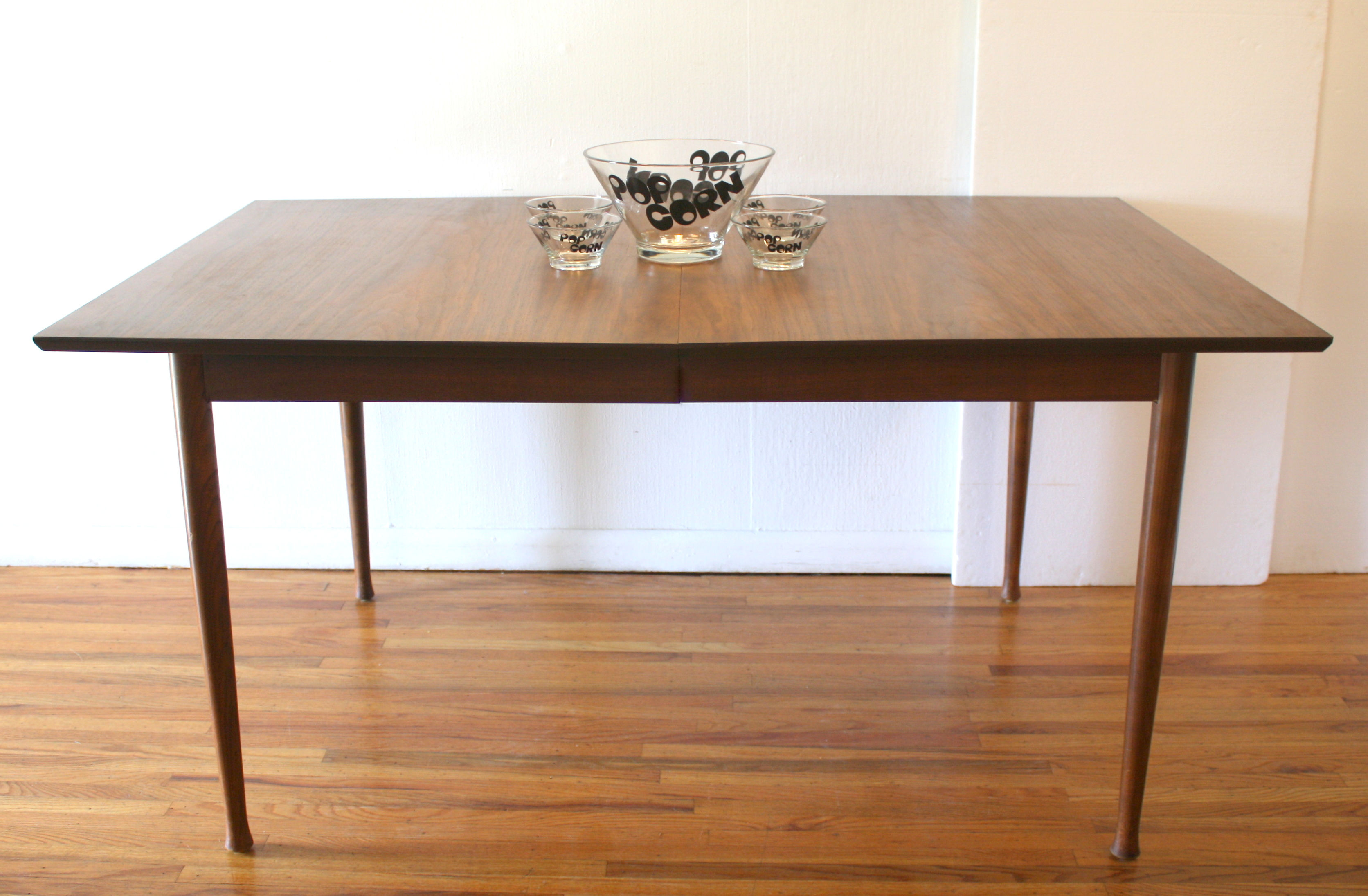 Modern Dining Table With Leaf Mid Century Modern Dining Table With Hidden Leaf And Set