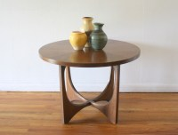 Broyhill Brasilia round side end table 1 | Picked Vintage