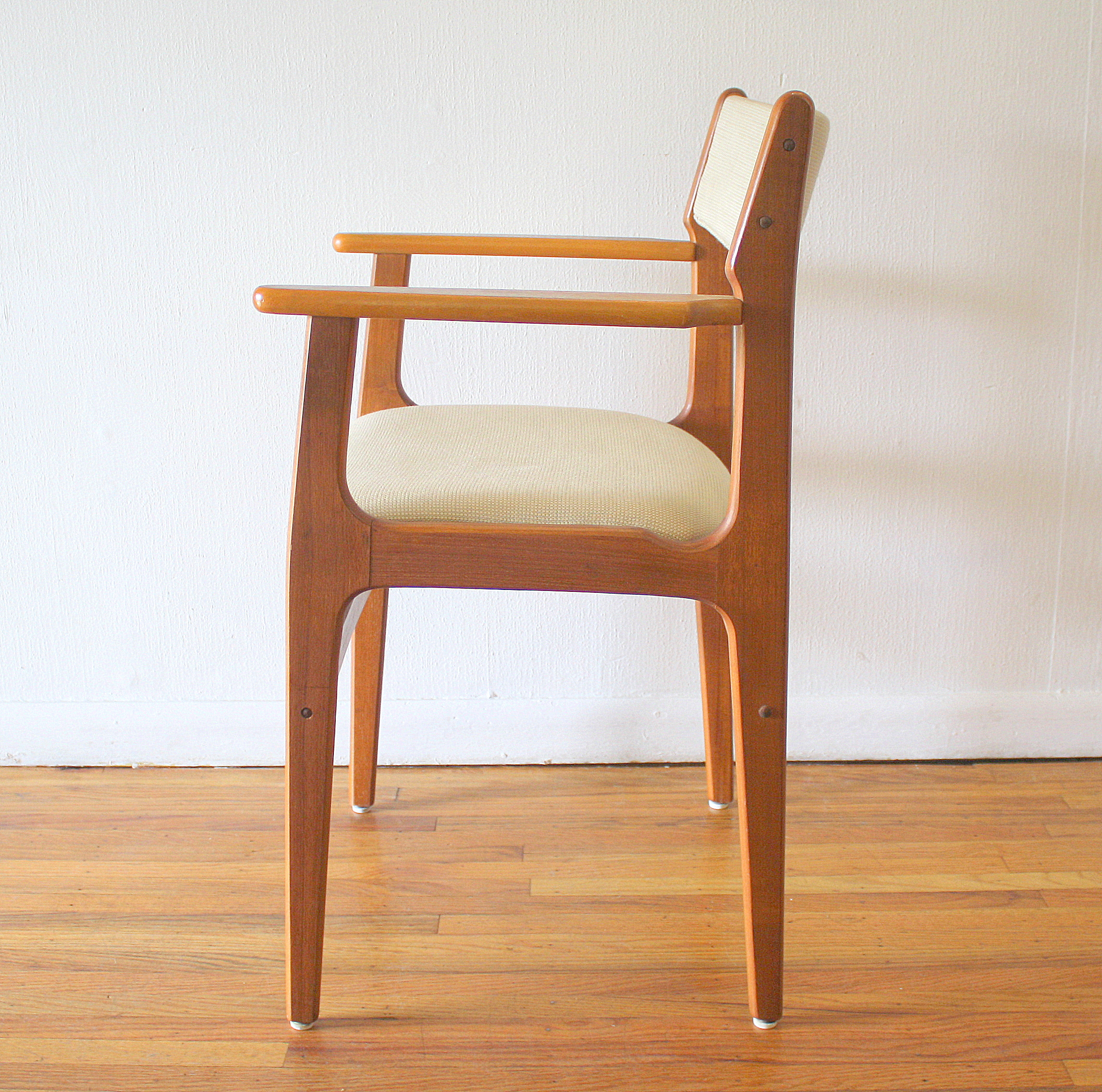 Arm Chair Side Mid Century Modern Danish Teak Arm Chair And Side End Table
