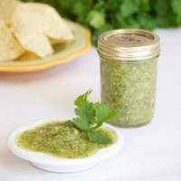 Fresh Roasted Tomatillo Salsa