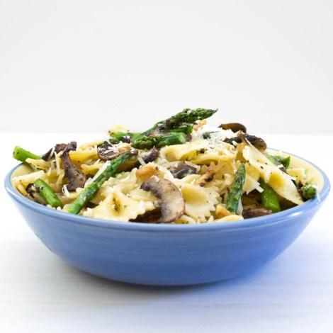Asparagus and Mushroom Farfalle-2