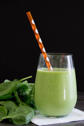 love the tropical green Piña Colada Smoothie. Yes, it is green, but ...
