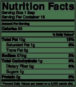 NutritionLabel-Balsamic Vinaigrette