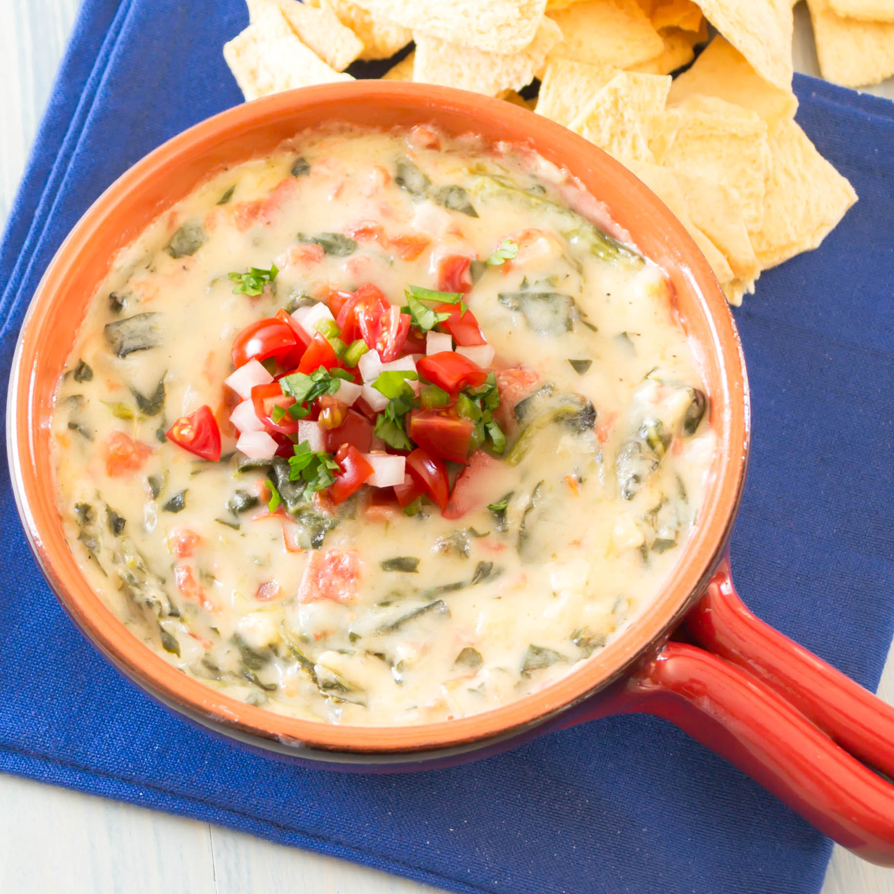 Now, back to this delicious Mexican Spinach Dip.