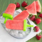 Strawberry Watermelon Popsicles