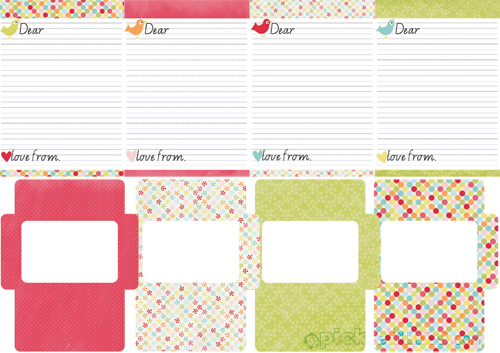 Printable Kids Letter Writing Set - Picklebums - printable letter paper with lines