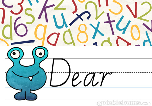 Printable Kid\u0027s Letter Writing Set 2 - Picklebums - design paper for writing