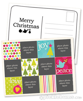 2011 Christmas Printable Series - Christmas Postcard Template - postcard template free printable