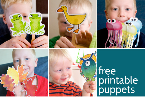 Fabulous Free Printable Puppets - Picklebums