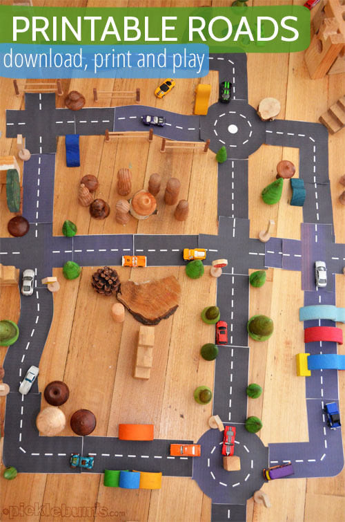 Printable Roads for Awesome Imaginative Play - Picklebums