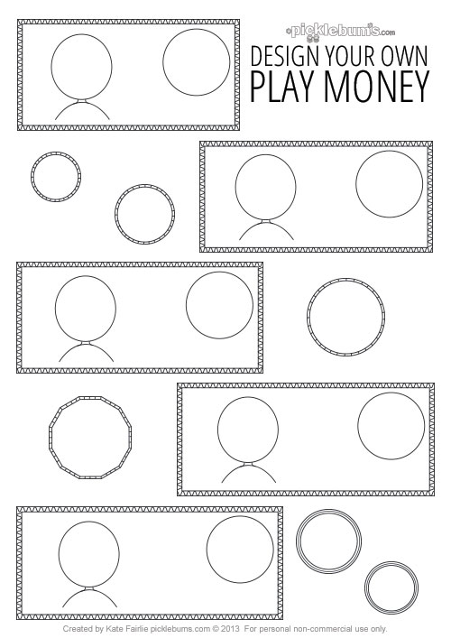 Design Your Own Printable Play Money - Picklebums - play money template