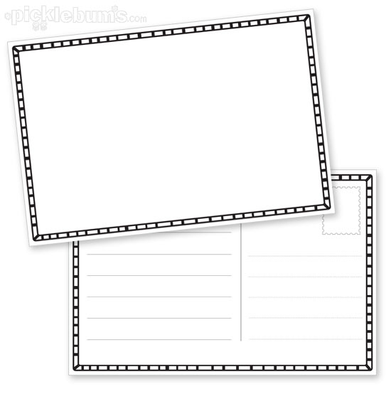 Draw Your Own Postcard - Picklebums - printable postcard template free