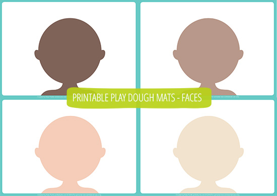 People Play Dough Mats - Free Printable! - Picklebums