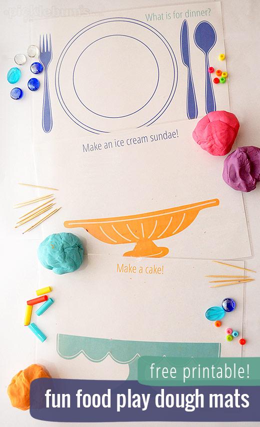 Fun Food Play Dough Mats - Picklebums