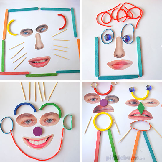 Crazy Faces Loose Parts Play! - Picklebums