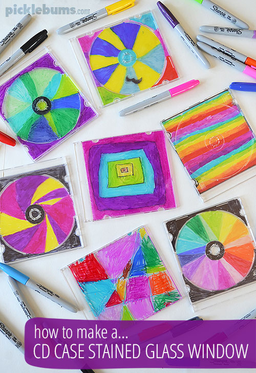 Make a CD Case stained Glass Window - Picklebums