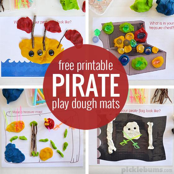 Fabulous Free Printable Play Dough Mats - Picklebums