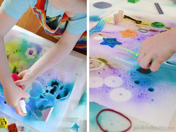 Stencil Spray Art - Picklebums