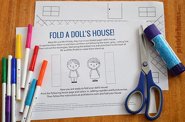 Make a Paper Doll\u0027s House - Free Printable - Picklebums
