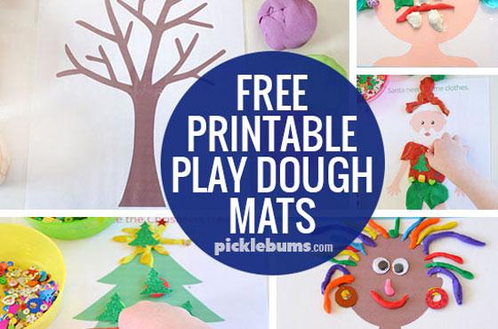 Pirate Play Dough Mats - Free Printable! - Picklebums