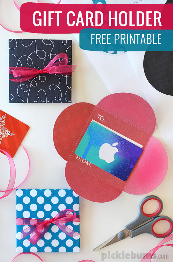 Free Printable Gift Card Holders - Picklebums - how to make vouchers