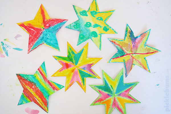 Easy to Make Christmas Star Decorations - Picklebums - christmas star decorations