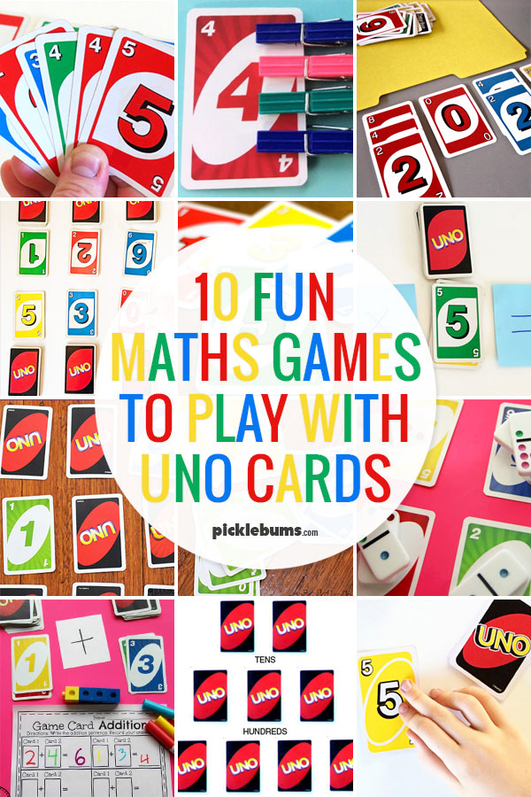 10 Fun Maths Games You Can Play With Uno Cards - Picklebums