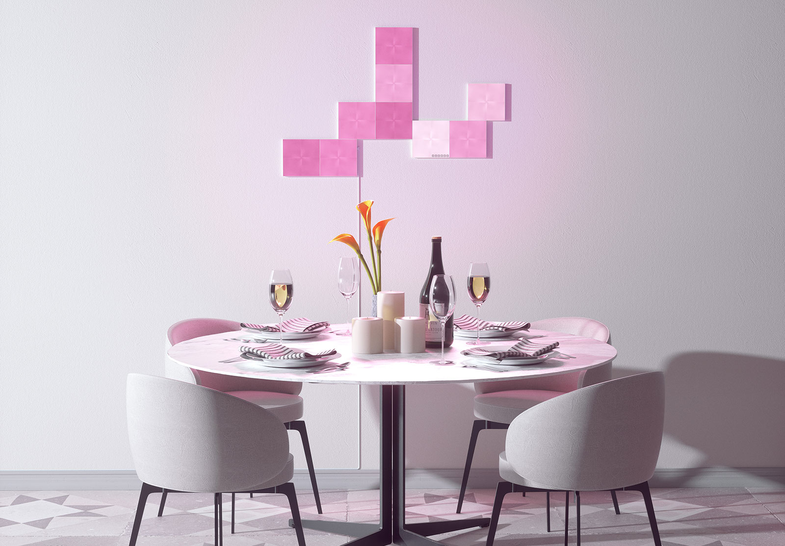 Jb Hi Fi Lighting Nanoleaf Canvas Turns Your Wall Into A Painted Scene Pickr