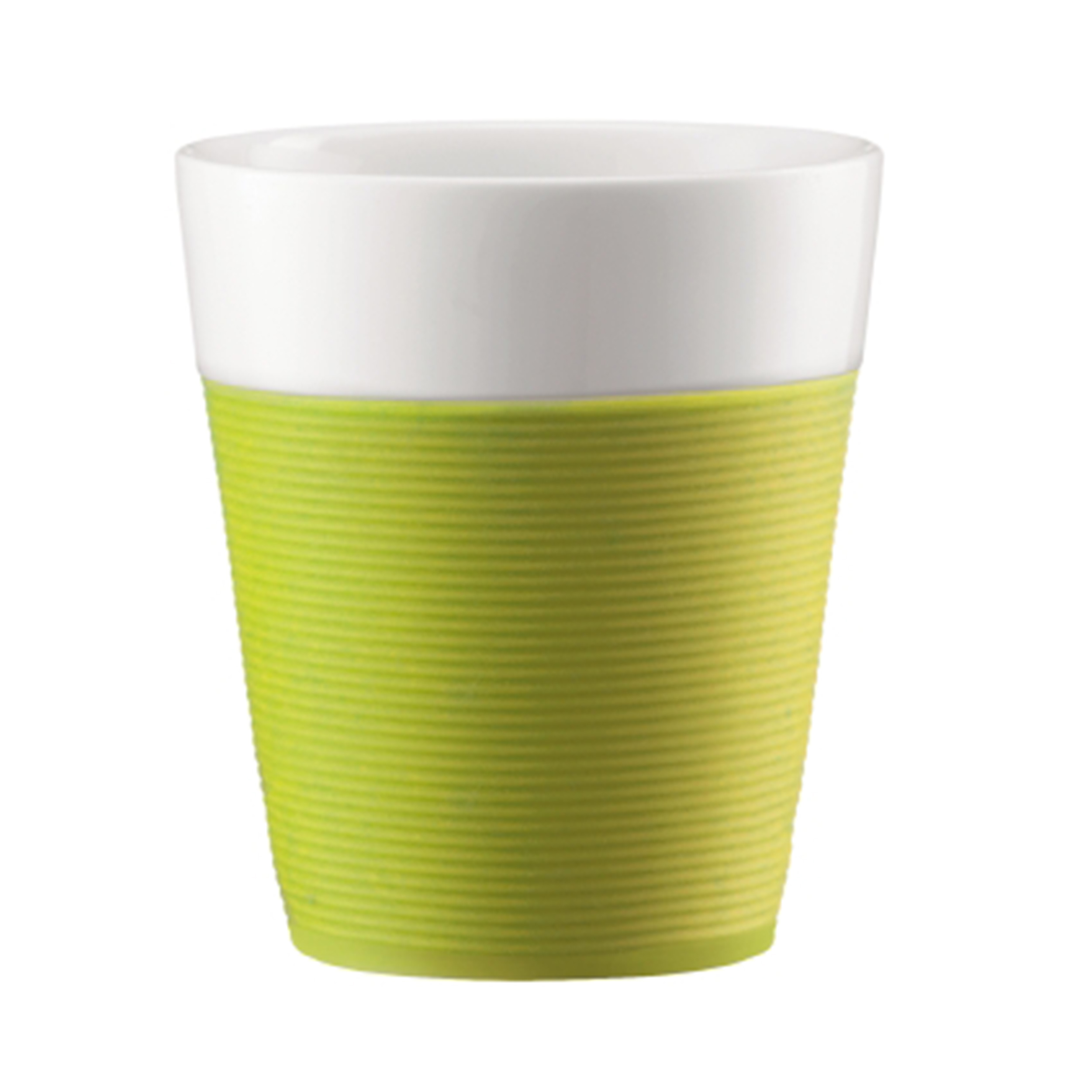 Bodum Tassen Bodum Bistro Cup With Silicone Ribbon 2 Set Tea Cup Coffee Cup Coffee Mug Porcelain Lime Green 300 Ml 11582 565 At About Tea De Shop