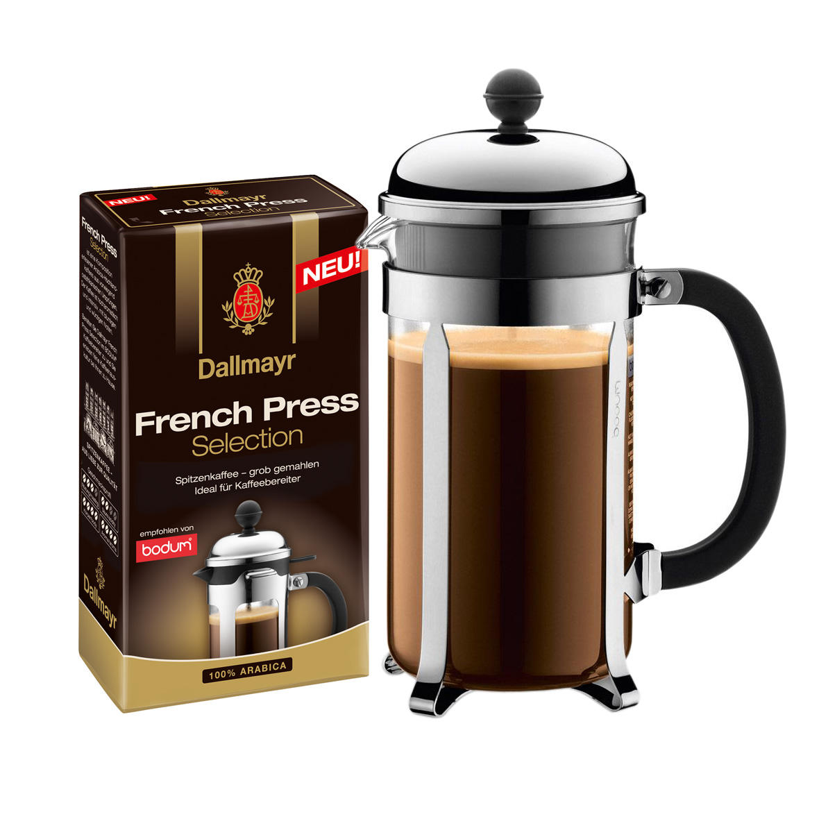 Bodum Tassen Bodum Chambord Coffee Maker 3 Cups Dallmayr Coffee French Press Selection Coarsely Grounded 250g At About Tea De Shop