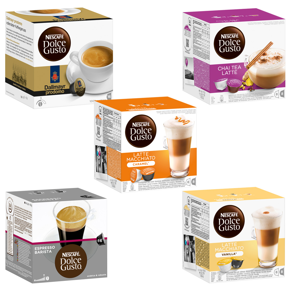 Umbra Deutsch Nescafé Dolce Gusto Capsules Exotic-set, 5 Varieties , 5 X