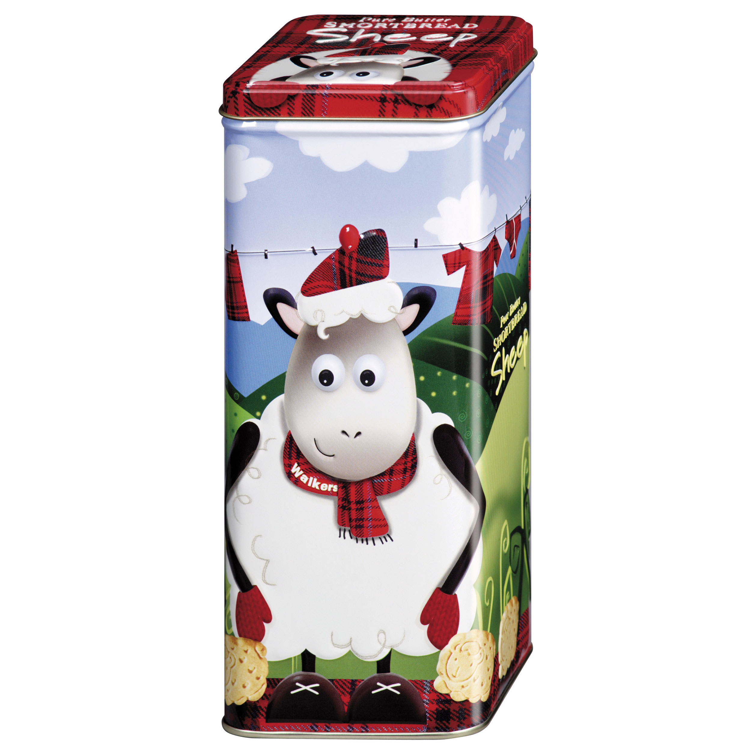 Momento Giftbox Walkers Shortbread Sheep Tin Scottish Shortbread Cookie