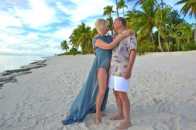 Mesqita suit and coverup for The Brando Resort, Marlon Brando's private Island in French Polynesia