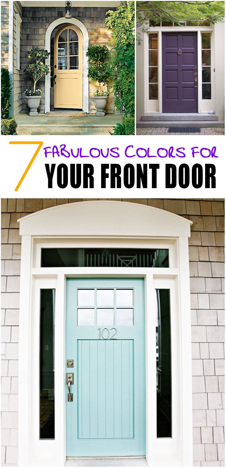 7 Fabulous Front Door Colors