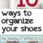 Organization, how to organize your shoes, closet organization, popular pin, DIY shoe organization, small space organization, small closet space.all Spaces