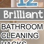 Bathroom cleaning, bathroom cleaning hacks, cleaning tips, bathroom cleaning, bathroom, popular pin, clean home, clean living, easy bathroom cleaning.