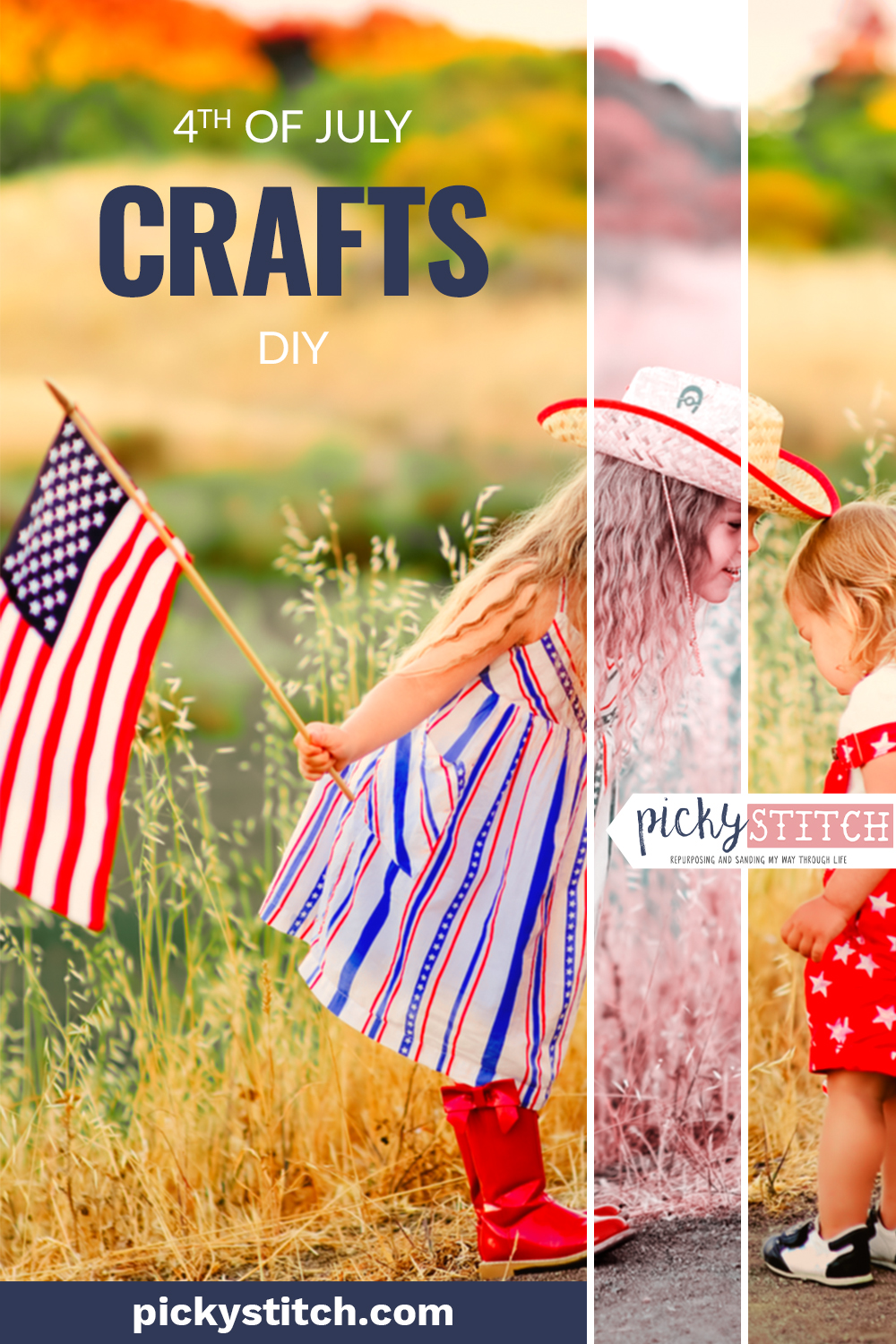 4th Of July Crafts Diy American Flag On Corrugated Metal Picky Stitch
