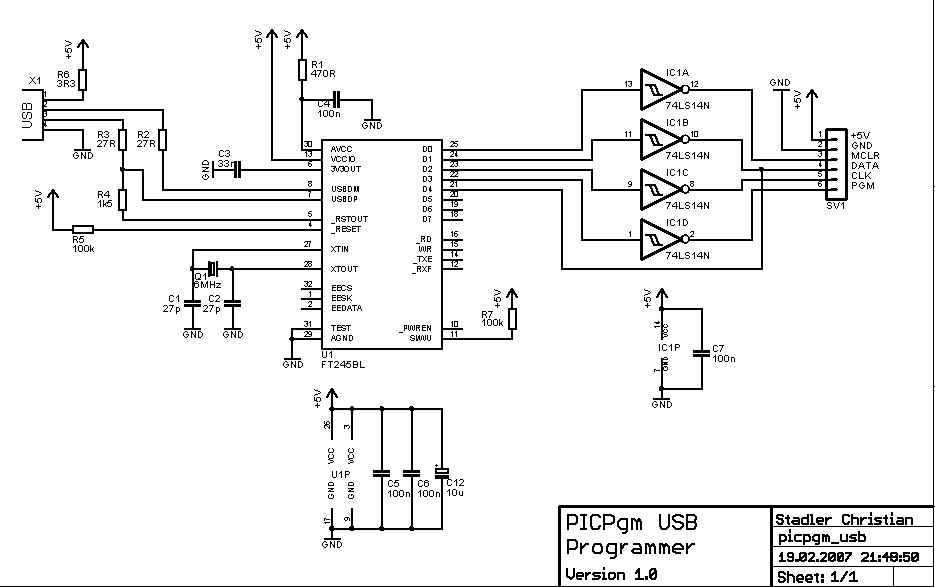 serial port to usb converter circuit diagram