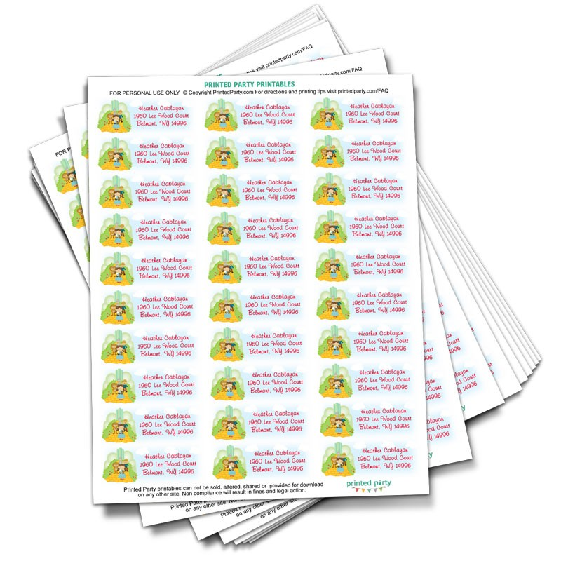 Wizard of Oz Address Label - Party Favor- Printed Party - Address Label