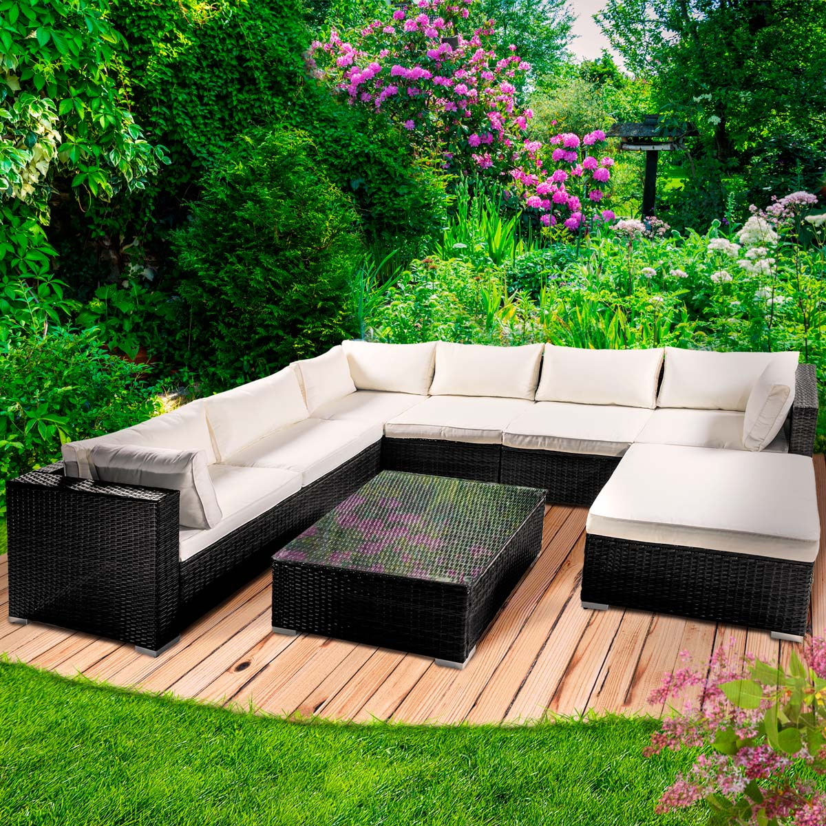 Outdoor Möbel Lounge Poly Rattan Gartenmöbel Lounge Möbel Sitzgarnitur