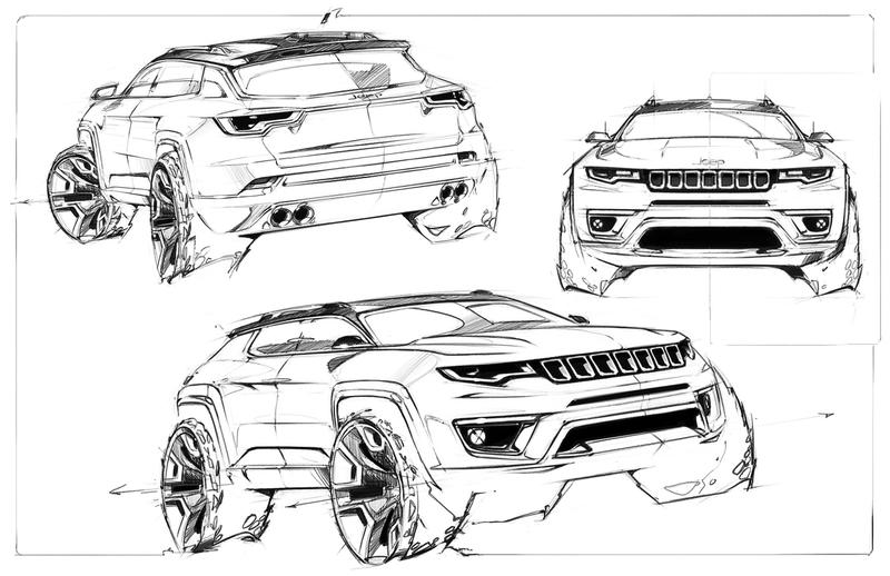 Jeep Compass 2017 style design studio Automotive Reference - Plate Sale Ticket Template