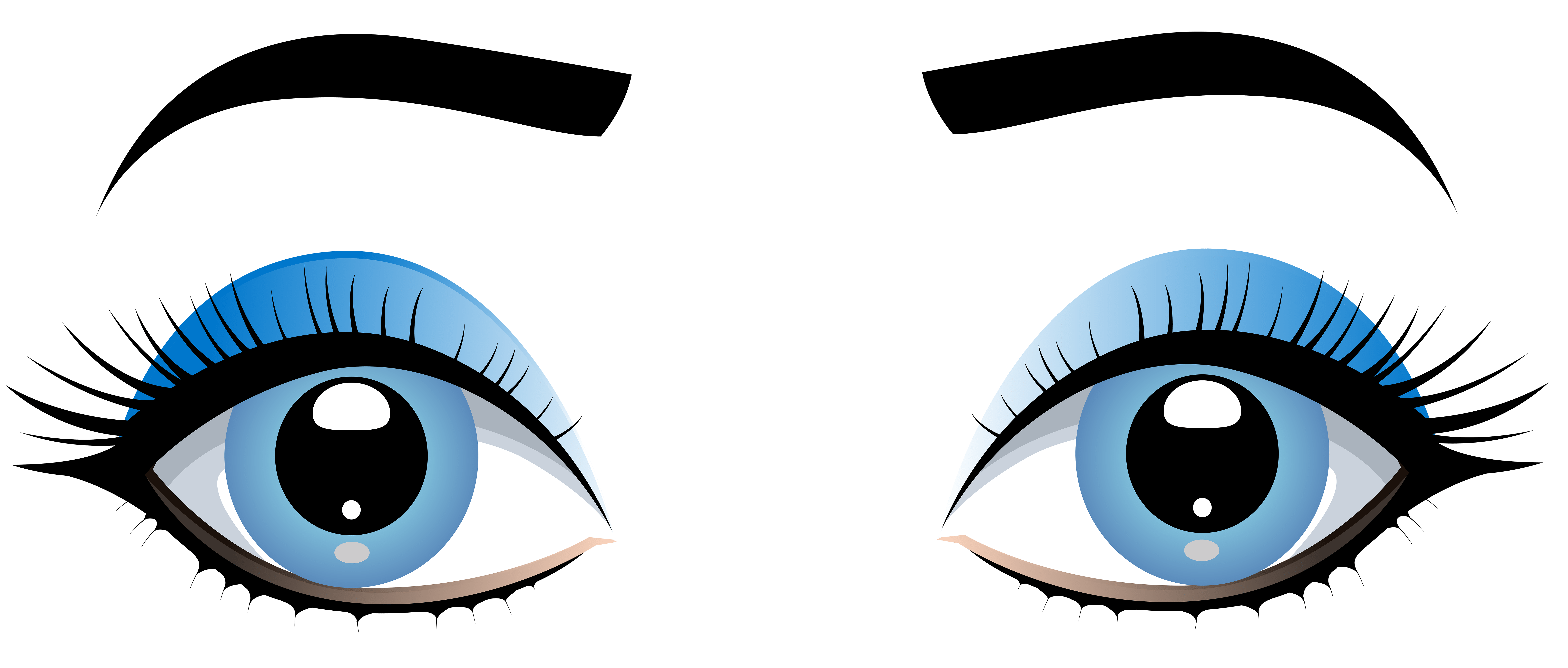 Free Animated Fireplace Wallpaper Blue Female Eyes With Eyebrows Png Clip Art Best Web Clipart