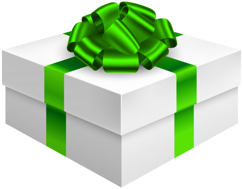 Gift Box With Bow In Green Png Clipart Best Web Clipart