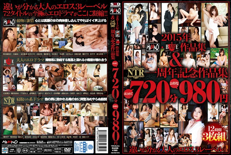 HAVD-915 2015 HIBINO · BABE Works And NTR First Anniversary Works Collectively 720 Minutes Deals 980 Yen