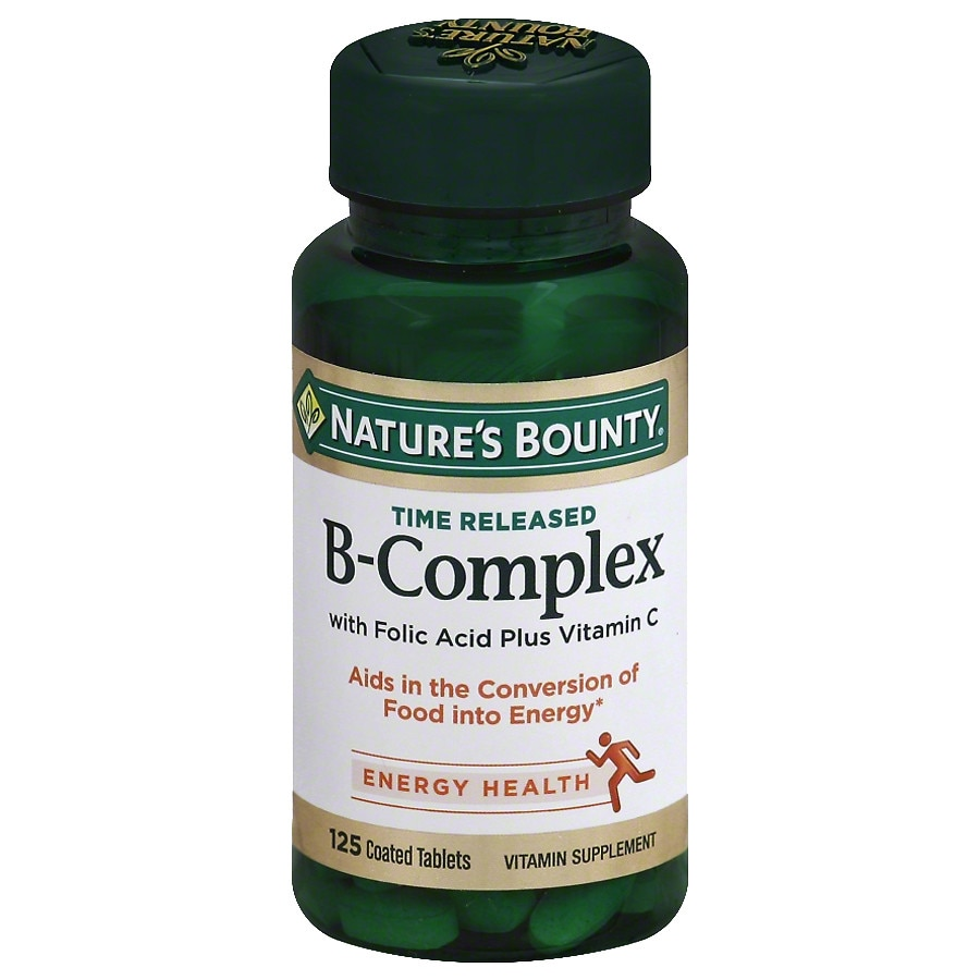 Foods Vitamin B 50 Nature S Bounty B Complex Plus Vitamin C Dietary Supplement Tablets