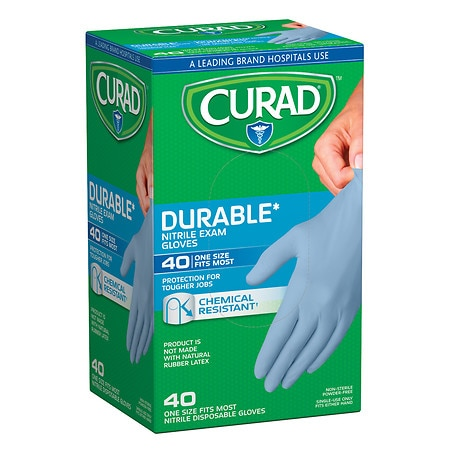 Curad Powder-Free Exam Gloves, Nitrile Universal Walgreens