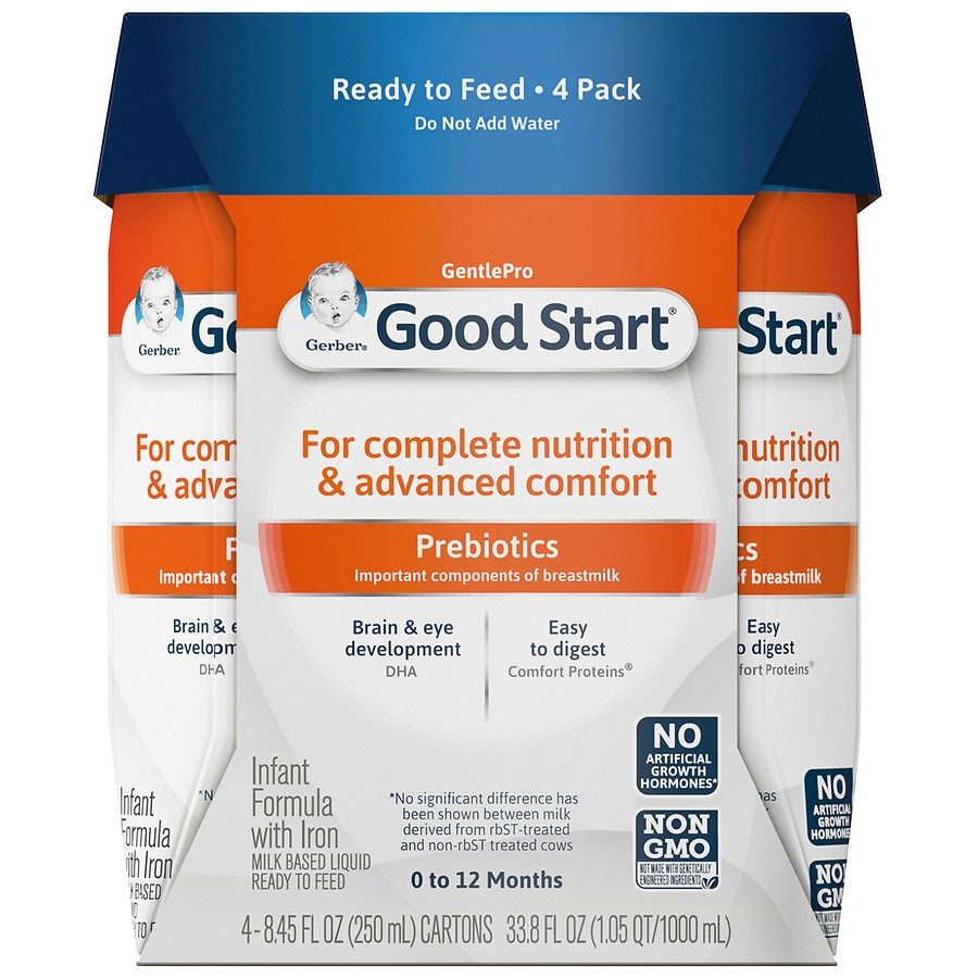 Baby Only Likes Ready Made Formula Gerber Good Start Gentle Infant Formula Ready To Feed Birth