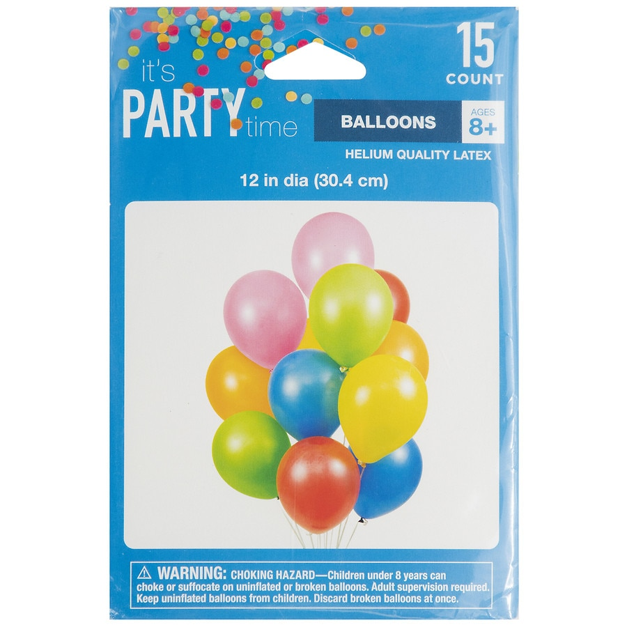 Party Time It S Party Time Latex Helium Balloons 12 Inch
