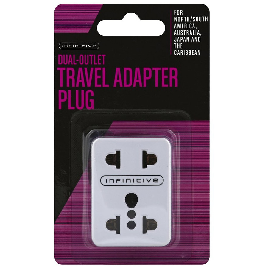 Coles Travel Adaptor Infinitive Dual Outlet Travel Adapter Plug