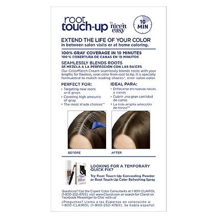 Clairol Nice \u0027n Easy Root Touch-Up Permanent Hair Color,5 Medium